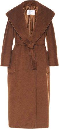 Max Mara Gentile Camelhair Hooded Wrap Coat