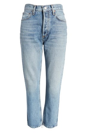 AGOLDE Riley High Waist Crop Jeans | Nordstrom