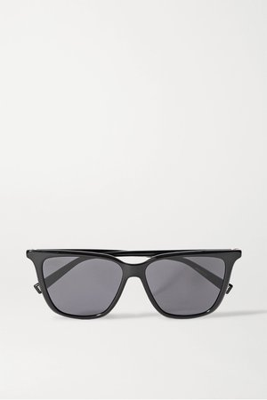 Black D-frame acetate sunglasses | Givenchy | NET-A-PORTER