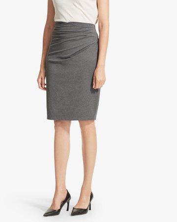 The Soho Skirt - Charcoal Melange | M.M.LaFleur