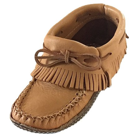 Womens Fringed Ankle High Real Natural Leather Earthing Moccasin Shoes   The Earthing Store
