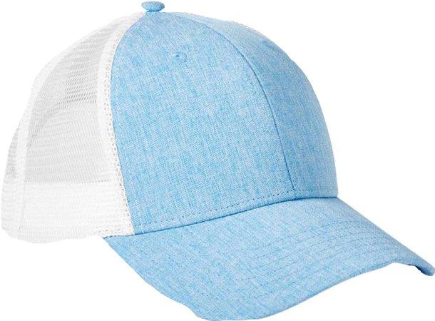 blue/white hat