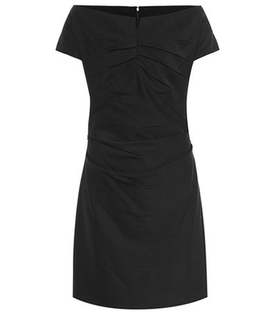 Wool-blend jersey dress