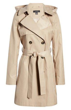Halogen® Hooded Trench Coat (Regular & Petite) | Nordstrom