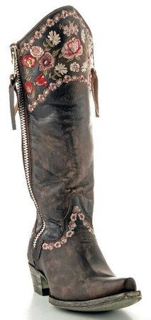 American Hippie Bohemian Style ~ Boho Embroidered boot