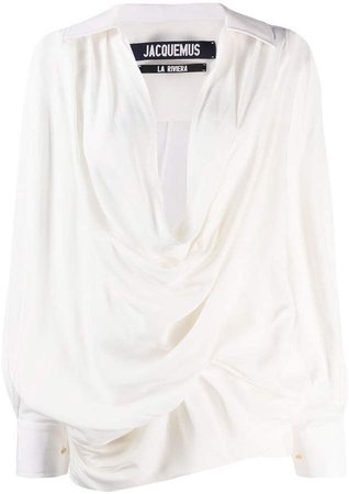 Portofino draped blouse
