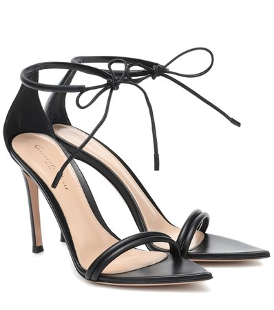 Gianvito Rossi - Leather sandals | Mytheresa