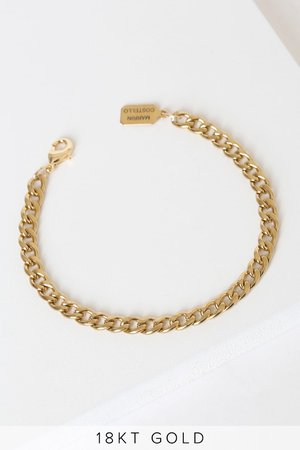 Marrin Costello Callie - 18KT Gold Bracelet - Chain Bracelet - Lulus