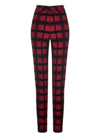 COLLECTIF CLOTHING Maddie Check Flock Trousers