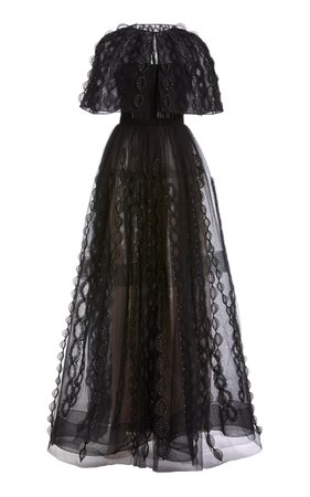 Embroidered Organza Gown by J. Mendel | Moda Operandi