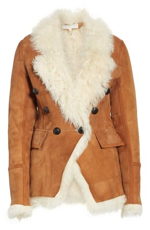 Veronica Beard Huntley Genuine Shearling Blazer | Nordstrom