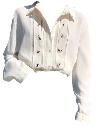 Pinterest - embroidered white shirt png polyvore