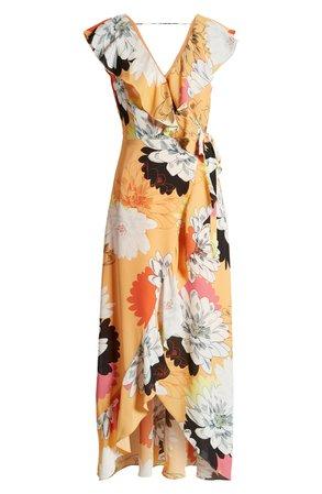 Leith Ruffle Wrap Maxi Dress | Nordstrom