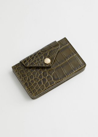 Leather Card Holder - Green - Wallets - & Other Stories