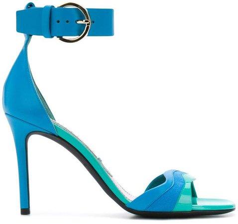 strappy colour-block sandals