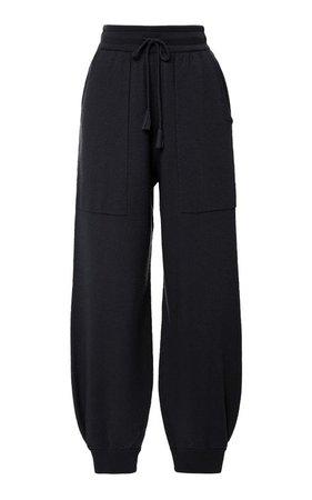 Black baggy sweat pants/ baggy jeans