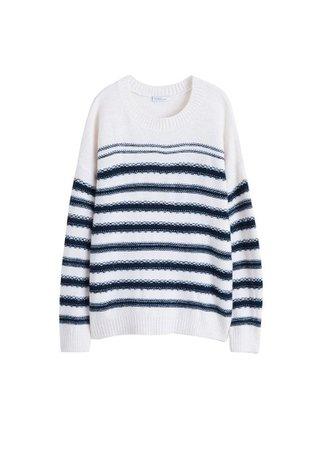 Violeta BY MANGO Striped sweater