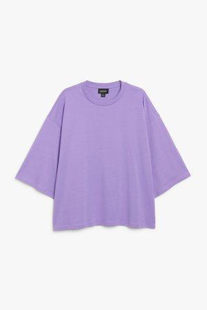 Oversize tee - Dark purple - Tops - Monki WW