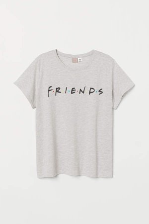 H&M+ Printed T-shirt - Gray