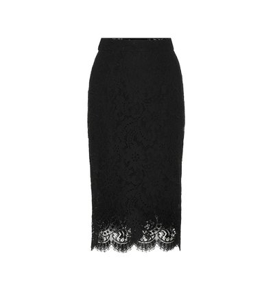 Dolce & Gabbana - Scalloped lace pencil skirt | Mytheresa
