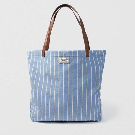 A&F Women's Canvas Tote in BlueONE SIZE