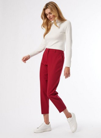 Crimson Ankle Grazer Trousers
