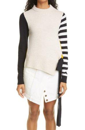 Monse Stripe Colorblock Sweater | Nordstrom