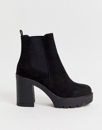 ASOS DESIGN Elderberry chunky chelsea boots in black | ASOS