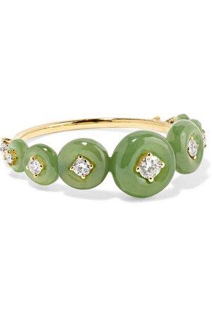 Fernando Jorge | Surround 18-karat gold, nephrite jade and diamond ring | NET-A-PORTER.COM