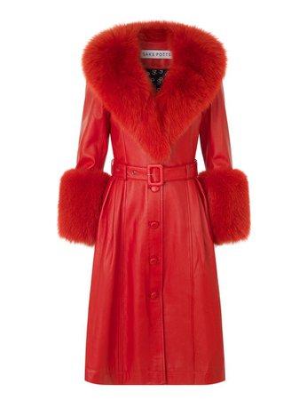 Saks Potts - Foxy Coat — Red