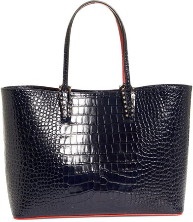 Cabata Croc Embossed Leather Tote