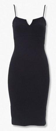 Black Body Con Dress