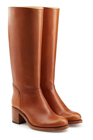 Leather Knee Boots Gr. IT 41