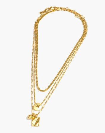 Three-Piece Washer Chain Necklace Set