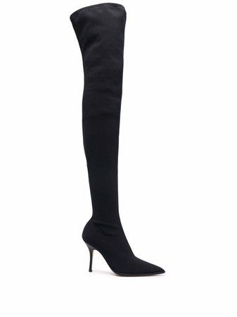 Paris Texas thigh-high stiletto boots - FARFETCH