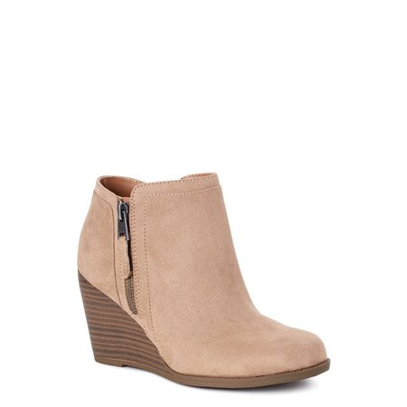 Time and Tru - Time and Tru Wedge Bootie (Women's) (Wide Width Available) - Walmart.com - Walmart.com