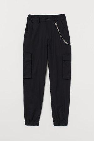 Key-chain Cargo Pants - Black