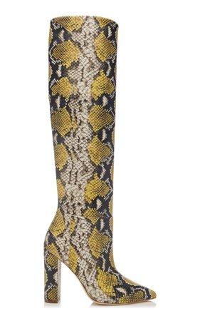 Jerri Snake-Effect Leather Boots by Ulla Johnson | Moda Operandi