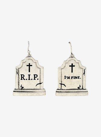 Tombstone Dangle Earrings
