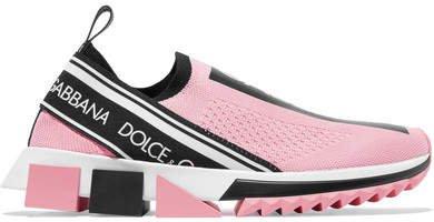 Sorrento Logo-print Mesh Sneakers - Pink