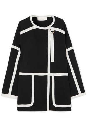 Chloé | Iconic piped wool coat | NET-A-PORTER.COM