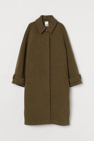 Wool-blend Coat - Green