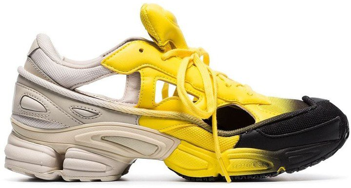 black, yellow and grey RS replicant ozweego sneakers