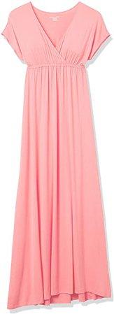 Amazon.com: Amazon Essentials Women's Surplice Maxi Dress: Clothing