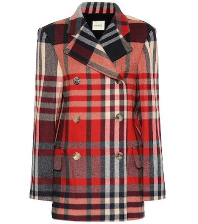 The Clara checked wool-blend coat