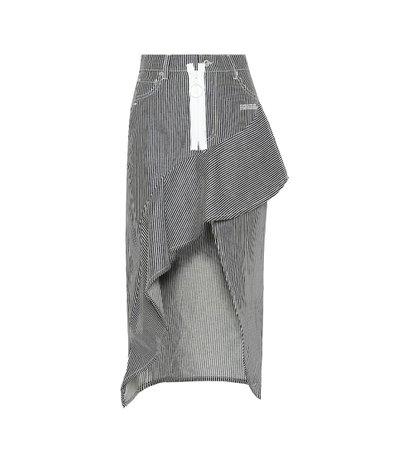 Ruffled Denim Skirt - Off-White | mytheresa.com