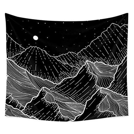"Amazon.com: Tapestry Wall Tapestry Wall Hanging Tapestries The Great Wave Tapestry Black and White Wall Art Home Decorations for Living Room Bedroom,59"" x 51"": Home & Kitchen"