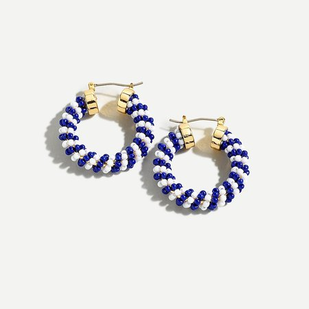 J.Crew: Mini-bead Hoop Earrings For Women