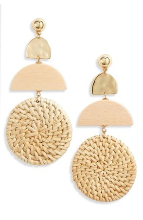 Ettika Raffia Drop Earrings | Nordstrom