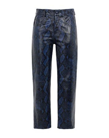 8 By Yoox Snake Printed Leather Straight Pants - Casual Trouser - Women 8 By Yoox Casual Trousers online on YOOX United Kingdom - 13501857FL